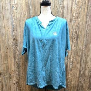 Terra & Sky Plus Size Teal  T-shirt